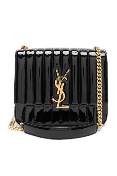 Large Patent Monogramme Vicky Chain Bag