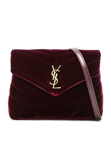 Toy Velvet Monogramme Loulou Strap Bag