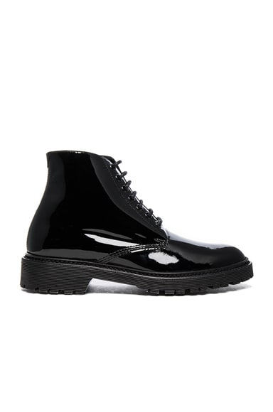 Patent Leather Army Boots