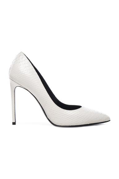 Embossed Python Paris Skinny Heels