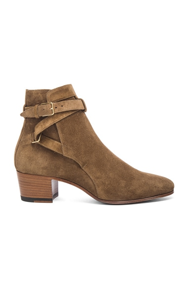 Wyatt Suede Buckle Boots