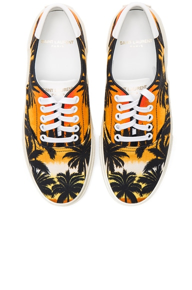 Palm Print Canvas Skate Sneakers