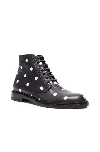 Leather Polka Dots Lolita Boots