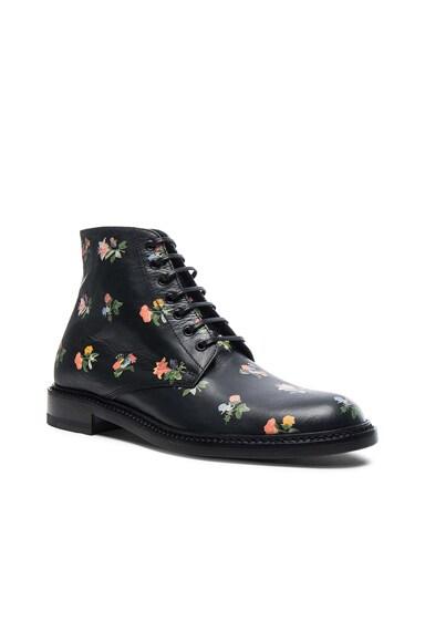 Grunge Flower Leather Lolita Boots