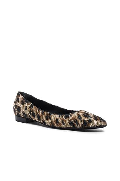 Paris Leopard Tapestry Ballerina Flats