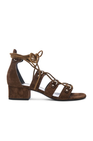 Babies Suede Lace Up Sandals