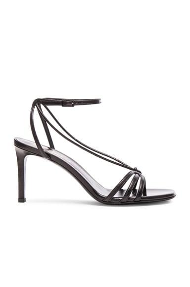 Saint Laurent Leather Kate Heels in Black