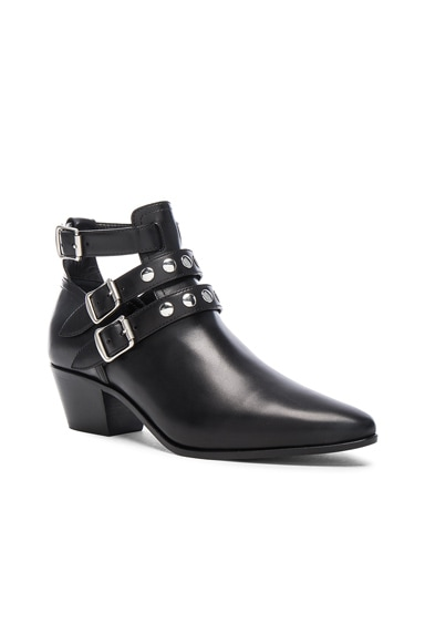 Rock Rivet Stud Leather Boots