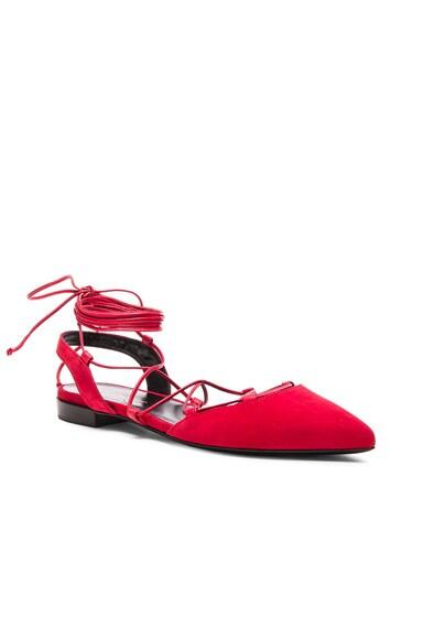 Paris Suede Ballerina Flats