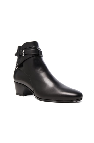 Leather Blake Buckle Boots