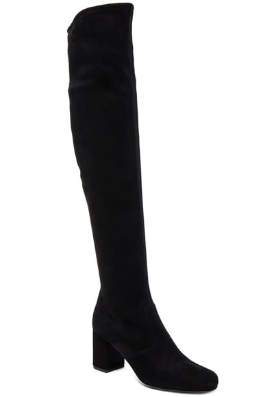 Stretch Suede BB Over the Knee Boots