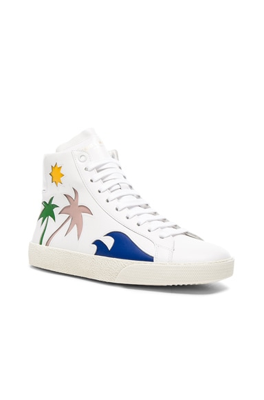Court Classic High Top Sea Leather Sneakers