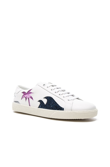 Court Classic Glitter Sea Leather Sneakers
