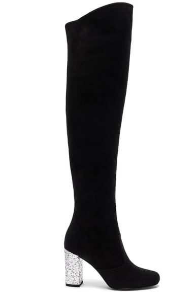 BB Suede & Glitter Boots