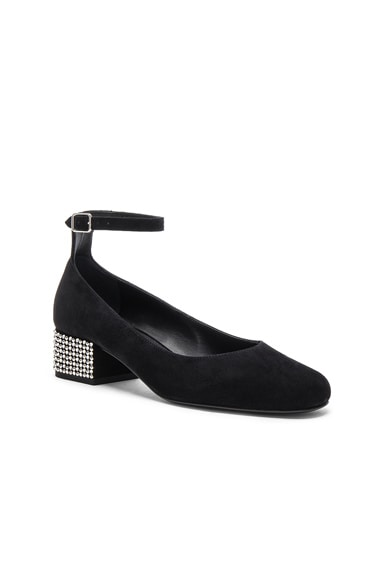 Babies Suede Studded Ankle Strap Flats