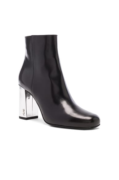 Leather Babies Pin Boots