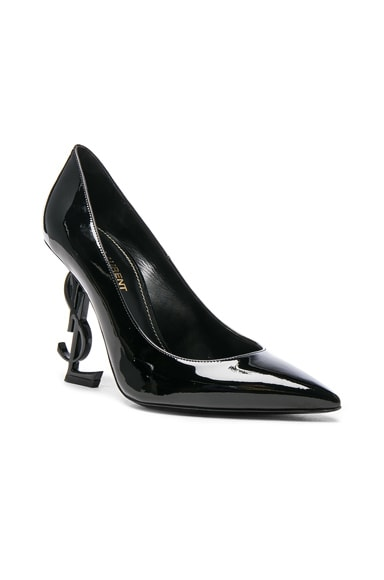 Patent Leather Opium Monogram Heels