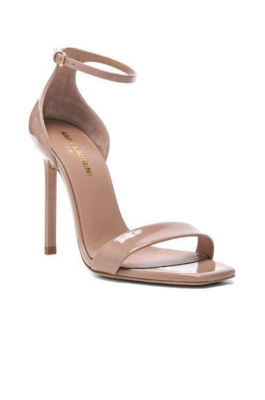 Patent Leather Amber Ankle Strap Heels