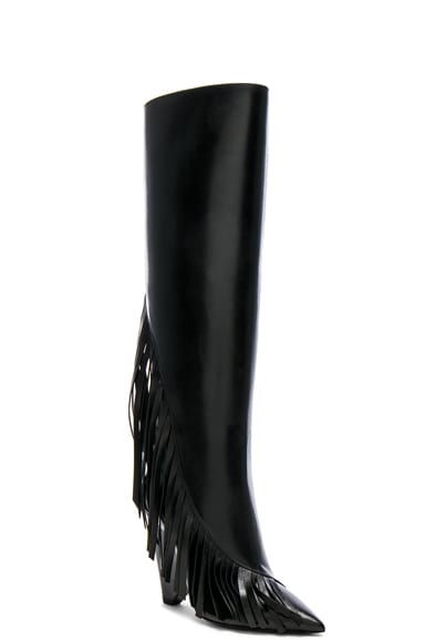 Niki Fringe Leather Boots