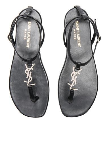 Leather Nu Pieds Sandals Saint Laurent