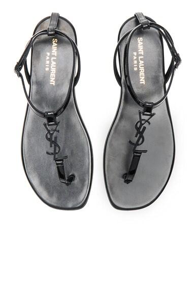 Patent Leather Nu Pieds Sandals Saint Laurent