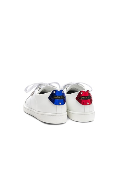 Metallic Patch Court Classic Sneakers