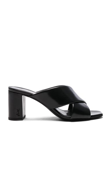 Leather Loulou Pin Mules