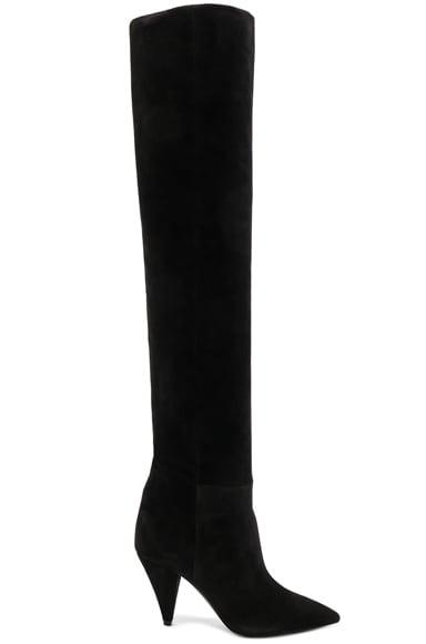Suede Era Heeled Thigh High Boots