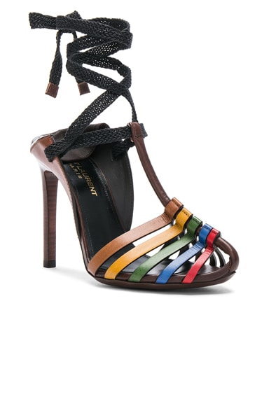 Leather Majorelle Ankle Tie Sandals
