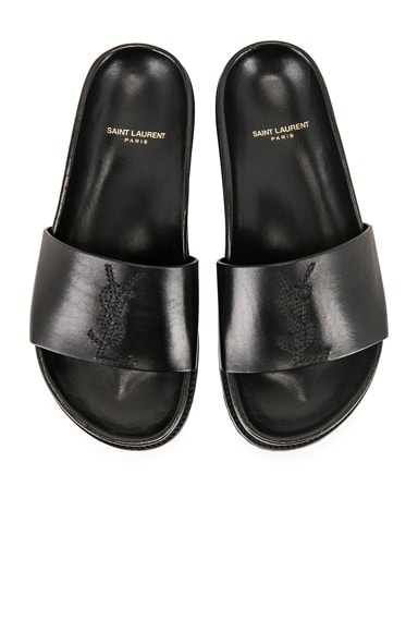 Embroidered Leather Joan Slides