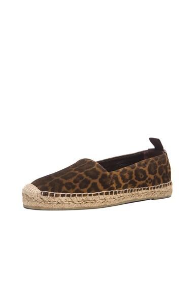 Suede Leopard Espadrilles