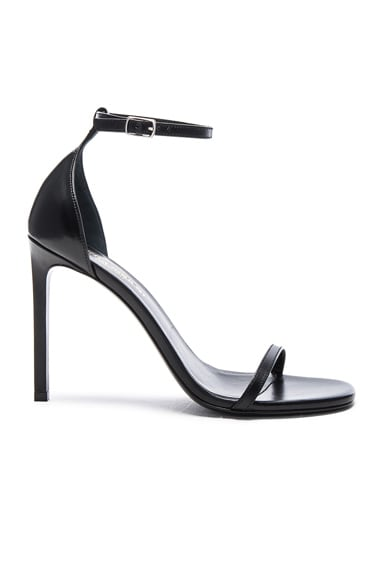 Saint Laurent Leather Jane Sandals in Black