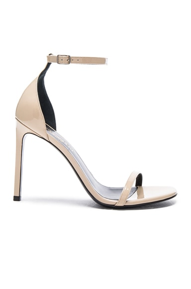 Saint Laurent Patent Leather Jane Sandals in Poudre