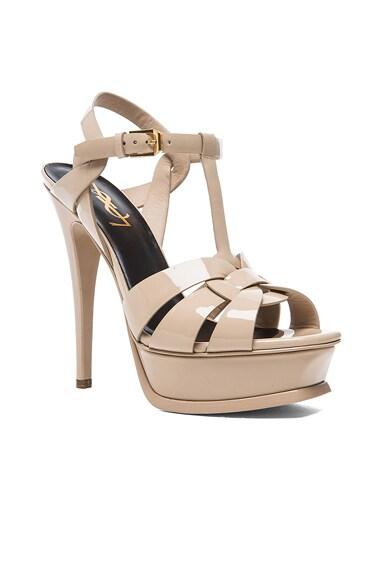 Tribute Patent Leather Platform Sandals