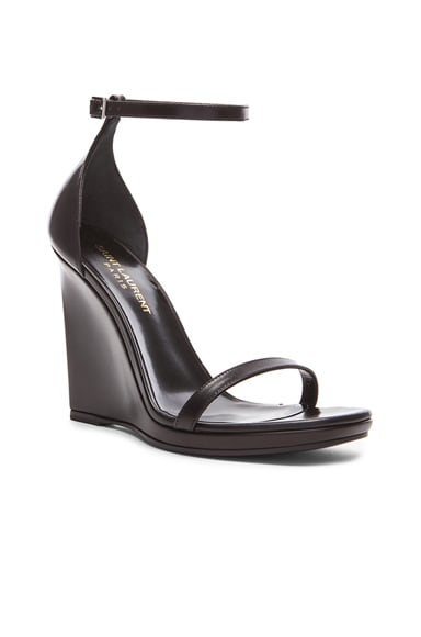 Jane Leather Wedge Sandals