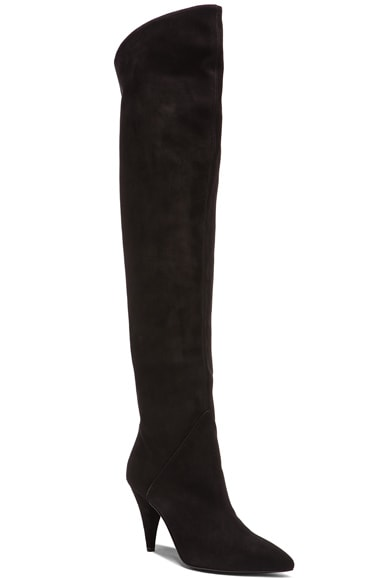 Thigh High Cat Suede Boots