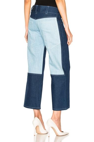 Sandy Liang Gemini Jeans in Combo Denim