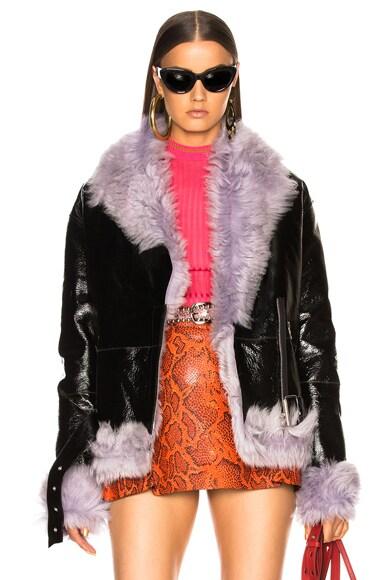 Bowery Moto Jacket With Lamb Shearling