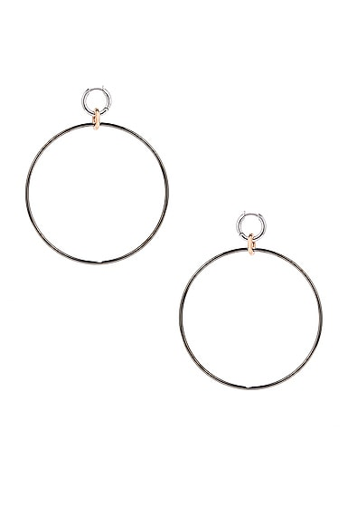 Altraire Noir Hoop Earrings