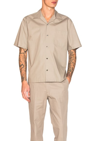 Stella McCartney Short Sleeve Shirt in Cement