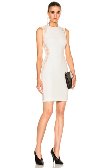 Stella McCartney Stretch Cady Sleeveless Dress in Pure White