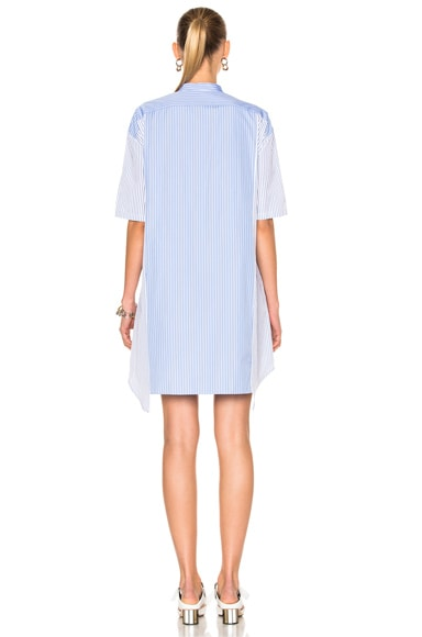 Stripe Shirting Short Sleeve Dress