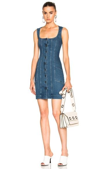 Stella McCartney Super Stretch Denim Dress in Deep Classic Blue