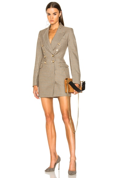 Cass Check Tailoring Mini Dress