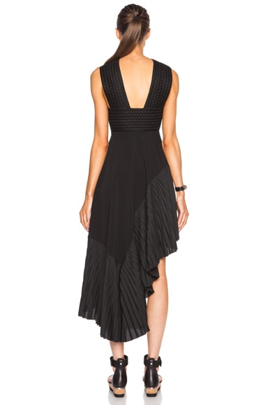 Pleated Halter Viscose-Blend Dress