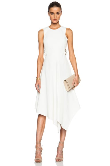 Stella McCartney Sleeveless Side Buckled Dress in Vanilla