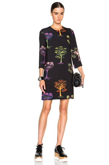 Stella McCartney Penelope Psychedelic Dress in Black