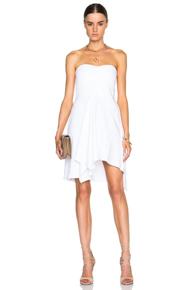 Stella McCartney Strapless Erin Dress in White