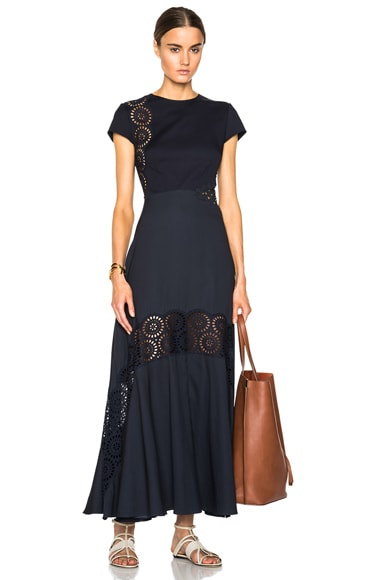 Stella McCartney Lara Broderie Anglaise Dress in Midnight