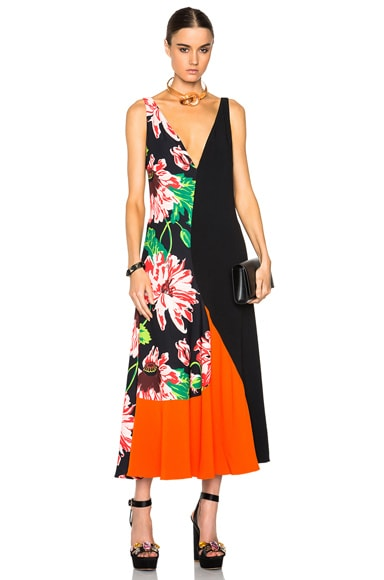 Stella McCartney Floral Print Dress in Black